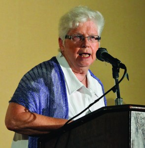 Attorney and Dominican Sister Patricia Siemen was among several Silver Springs advocates who spoke to more than 275 people during a public forum held in June at the Wyndham Hotel in downtown Jacksonville – Photos by Stephen Kindland