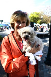 Jacksonville Humane Society Board Member Lisé Everly with her three-legged rescue Benny.