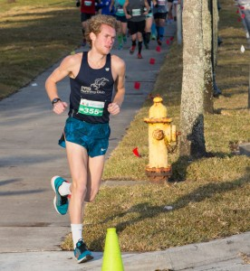 Connor Vaughan leads the pack of 30K Race runners in the Wolfson Children's Challenge. (Photo by Blake Menzel, Menzel Images)