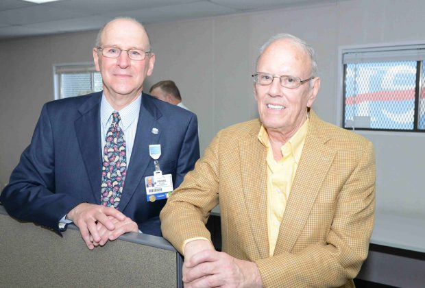 Baptist Health Senior Vice President and System Development Officer, Pierre Allaire, Ph.D., with Preston Haskell, former director at Baptist Health