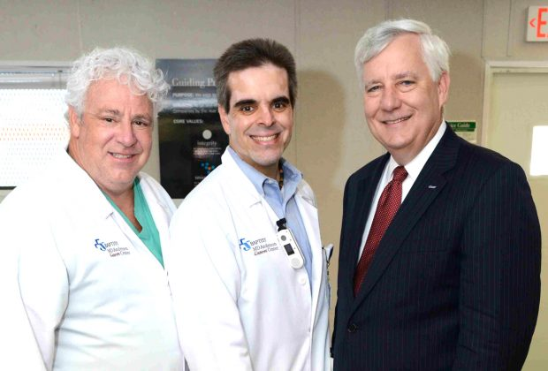 Dr. Stephen Buckley, gynecology oncology, Dr. William Putnam, medical director Baptist MD Anderson Cancer Center, with Dr. Robert Cavalieri, neurology