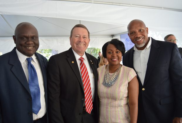 Sam Newby, City Councilman, At-Large; District 14 Councilman Jim Love, Baptist Health Senior Vice President of Specialty Services Nicole Thomas and Art Graham, Baptist Health Foundation Board member