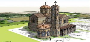A rendering of the future edifice of St. John the Divine Greek Orthodox Church, which is slated to be built on Beach Boulevard this fall.