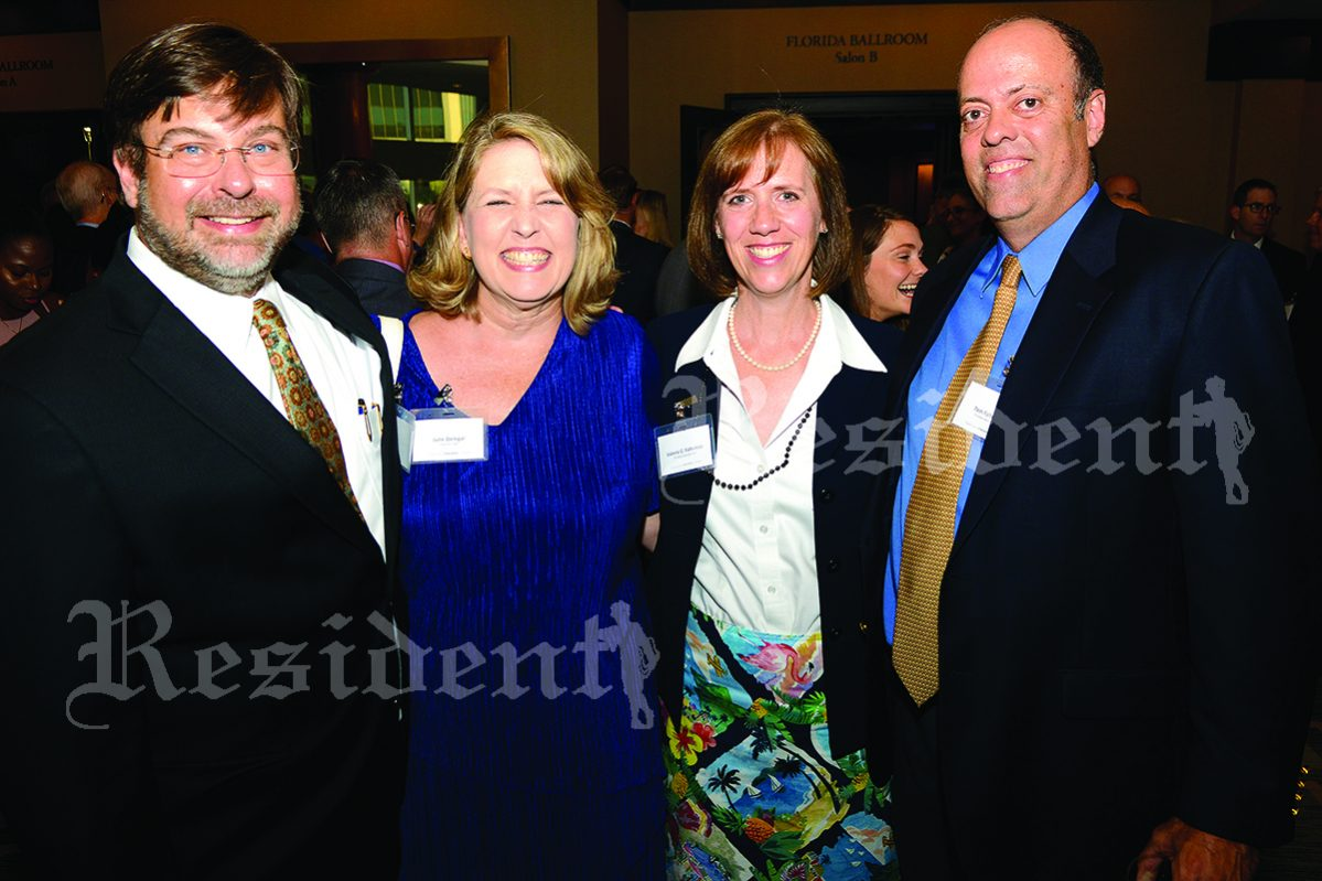 Tad and Julie Delegal with Tom and Valerie Faltemier
