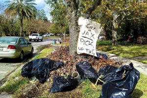 Residents in San Marco express frustration over the long wait for tree debris pickup.