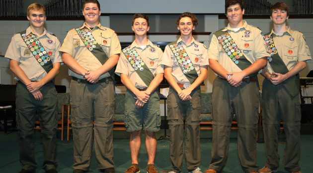 Boy Scouts welcome six new Eagles to the community