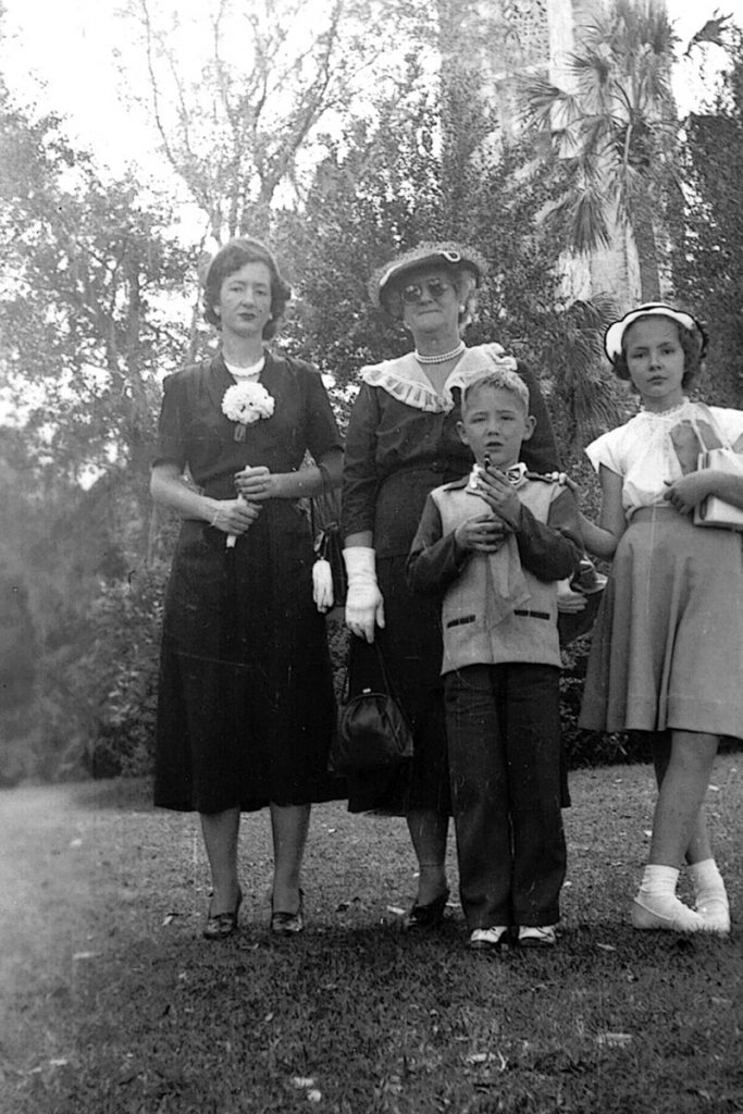Libby, her mother, Mamie Battle, Randy and Barbara