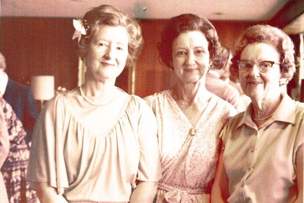 Libby and her two sisters, Lois Middleton and Hazel Rogers. After their mother died in 1984, the sisters decided that they wanted their families to get together once a year to stay in touch. They spent long weekends together for many years at places such as Hilton Head, Savannah, Jacksonville Beach, Ponte Vedra, Sawgrass and St. Augustine.