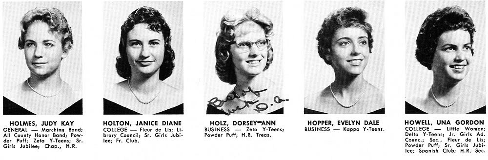 Dorsey-Ann Holz yearbook photo