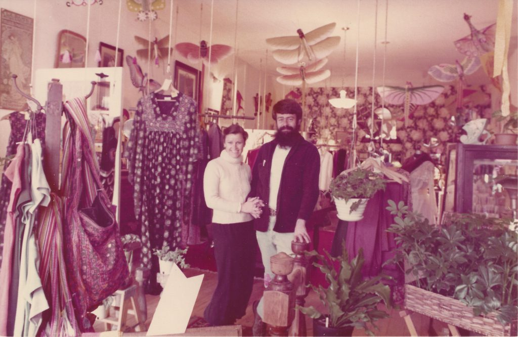 Gunnel Humphreys and Tom McCleery at Edge City, circa 1970s