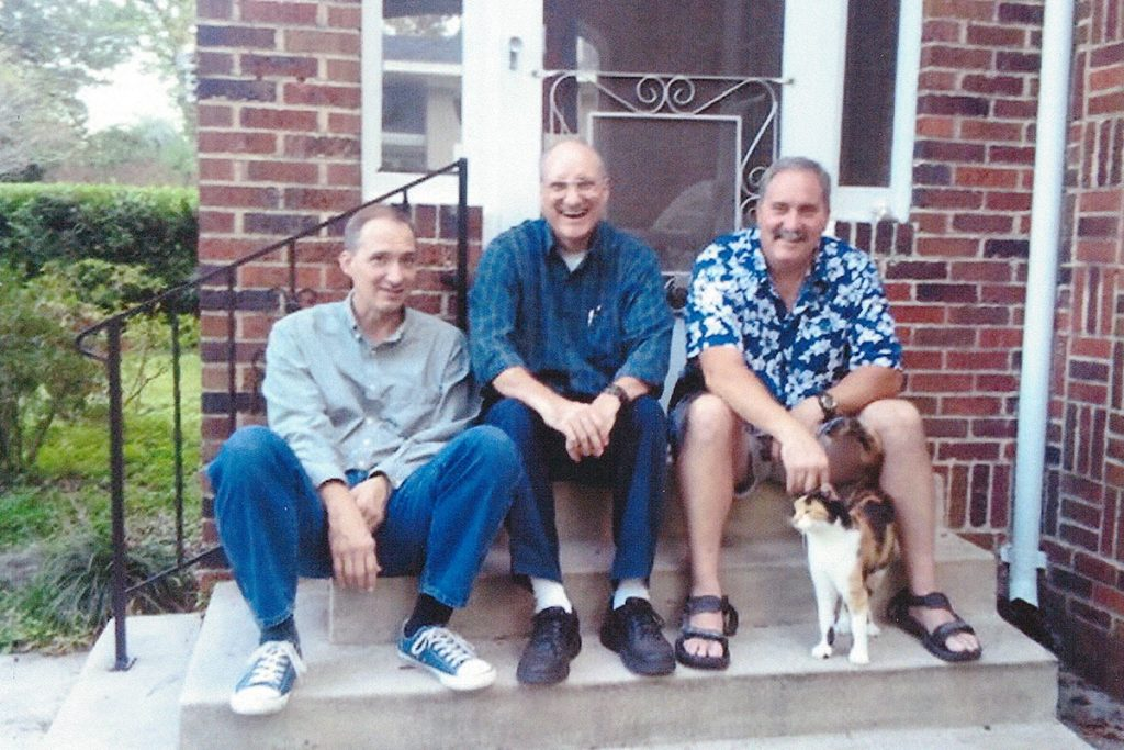 Anita's and Harry's sons, Doug, Mike and Wes Thompson