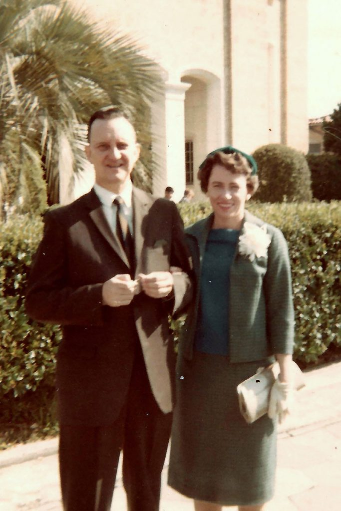 Harry and Anita Thompson, Easter 1967, outside St. Paul's Catholic Church