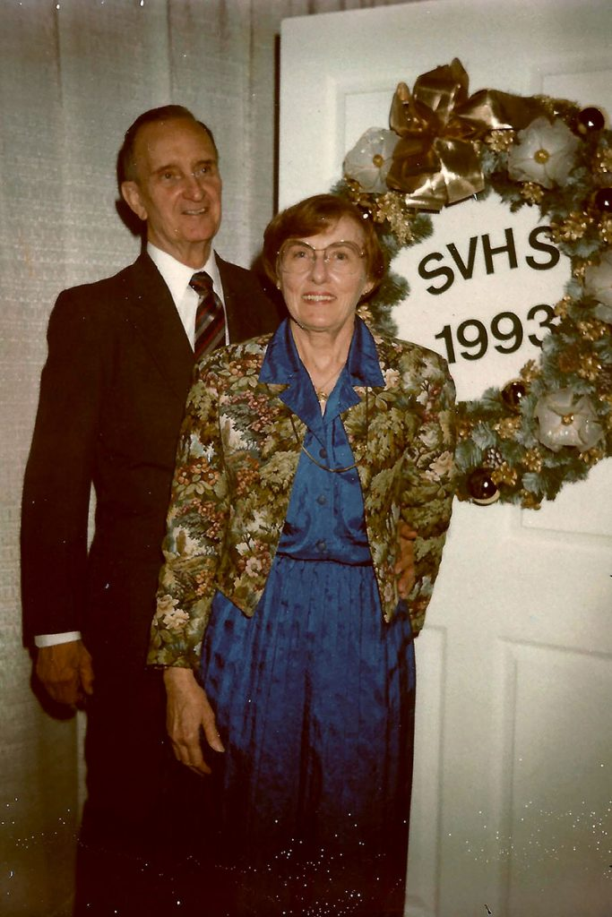 Harry and Anita Thompson at a St. Vincent's Hospital holiday party in 1993