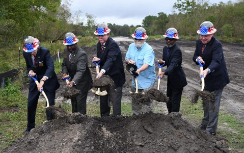 Groundbreaking of roadway to Jacksonville National Cemetery