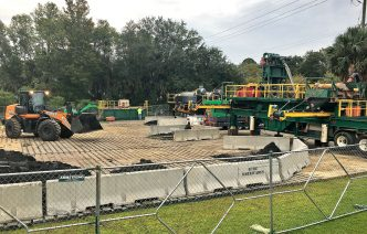 Dredging is in process on Millers Creek
