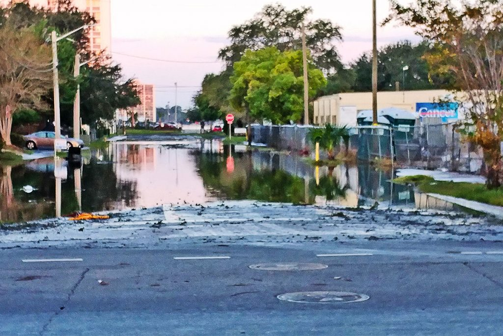 Flooding in North San Marco due to Hurricane Irma.